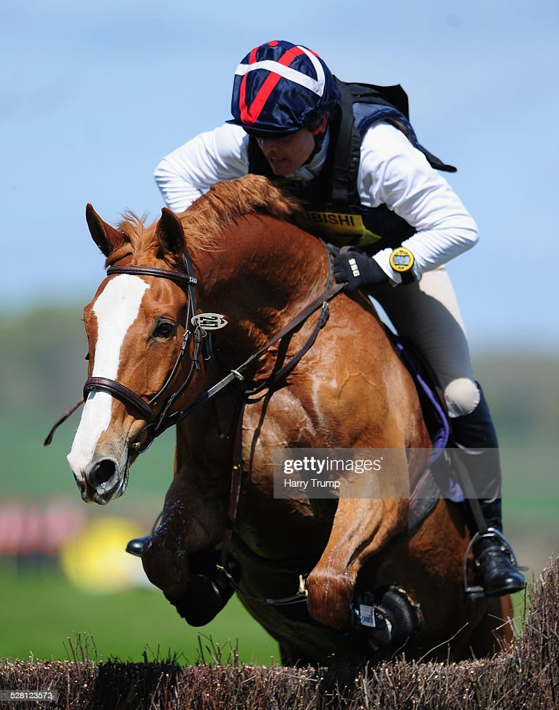 Boleiro N ridden by Nicholas Bevan jumps a fence during the Mitsubishi Motors Cup Cross County Race during Day One of the Badminton Horse Trials on May 4, 2016 in Badminton, Untied Kindom.