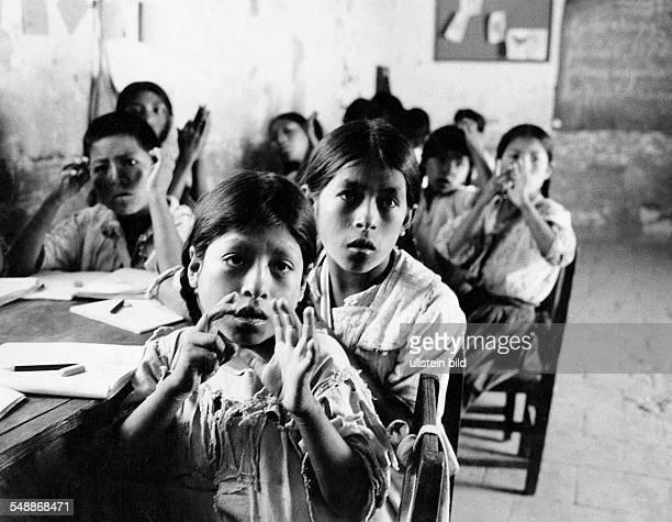 Children in a rural school a girl calculating with her fingers 1966 Photographer Rudolf Dietrich Vintage property of ullstein bild