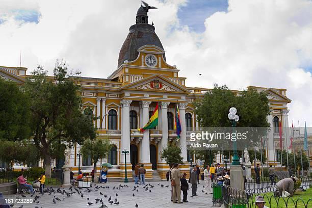 Bolivia, La Paz, Murillo square, Parliament