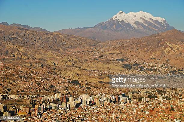Bolivia, La Paz, overview of the capital city of Bolivia, seen from the cliffs of neighboring El Alt