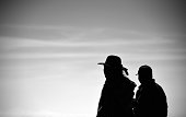 A Bolivian native walks during the Stage 8 of the Dakar 2015 between Uyuni in Bolivia and Iquique in Chile on January 11 2015 Uyuni the world's...