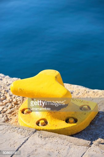 Bollard - Harbor pier  Nautical Vessel : Stock Photo