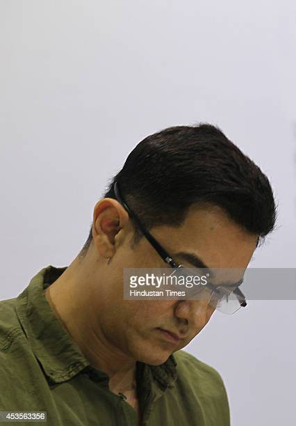 Bollywood actor Aamir Khan launched the book My Marathi Communicative Marathi For Beginners Level 1 at the University of Mumbai Kalina on August 13...