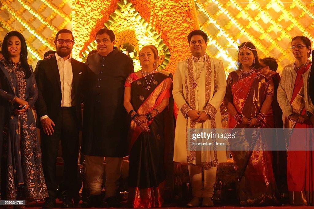 Wedding Reception Of Union Minister Nitin Gadkari Daughter Ketki And Aditya Kaskhedikar