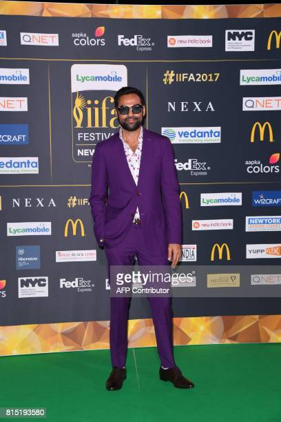 Bollywood actor Abhay Deol arrives for the IIFA Awards July 15 2017 at the MetLife Stadium in East Rutherford New Jersey during the 18th...