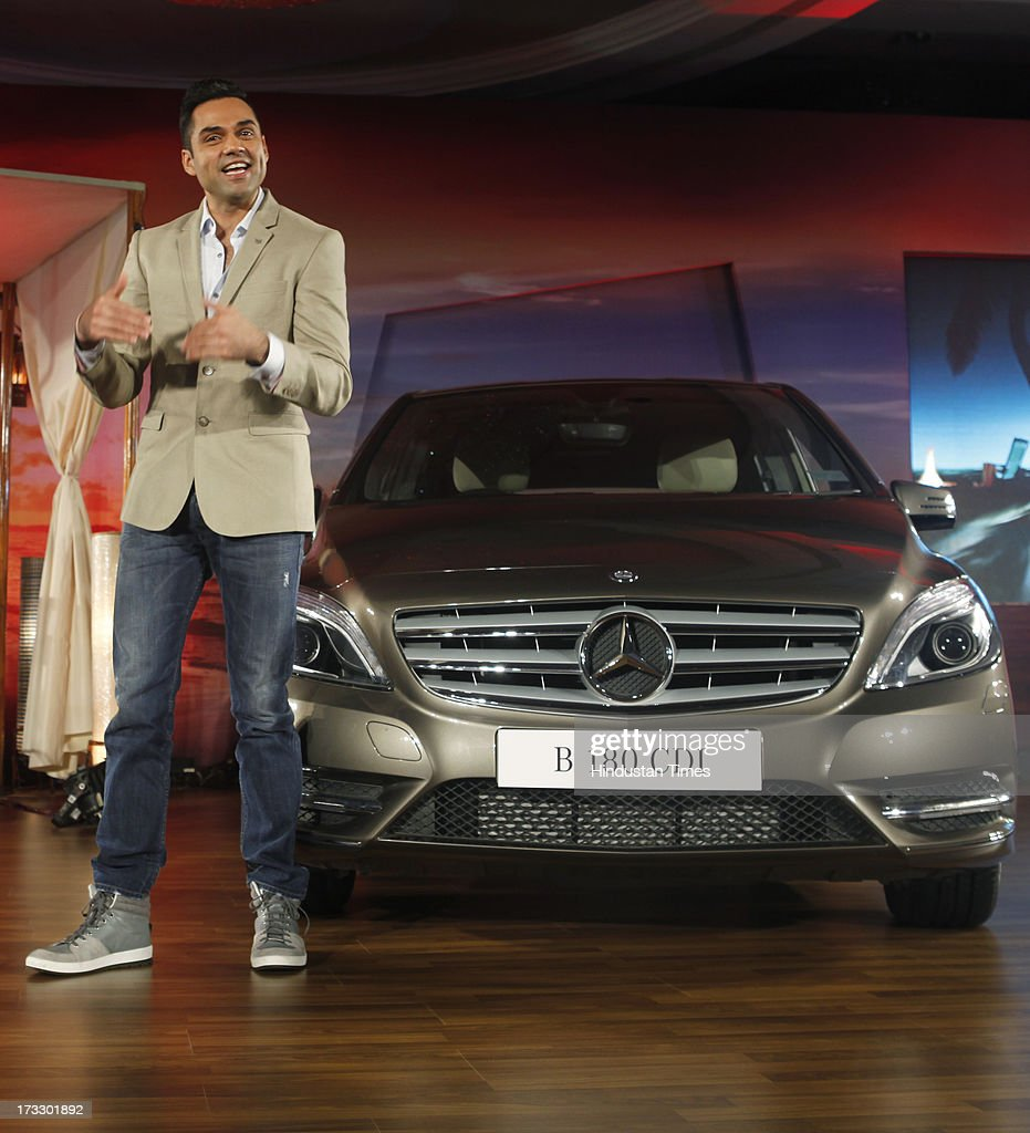 Bollywood actor Abhay Deol posing with the newly launched Mercedes-Benz New B-Class 180 CDI luxury Tourer on July 11, 2013 in Mumbai, India. The price of the new B 180 CDI Style (Diesel) is fixed at Rs 22.60 lakh, ex-showroom Mumbai.