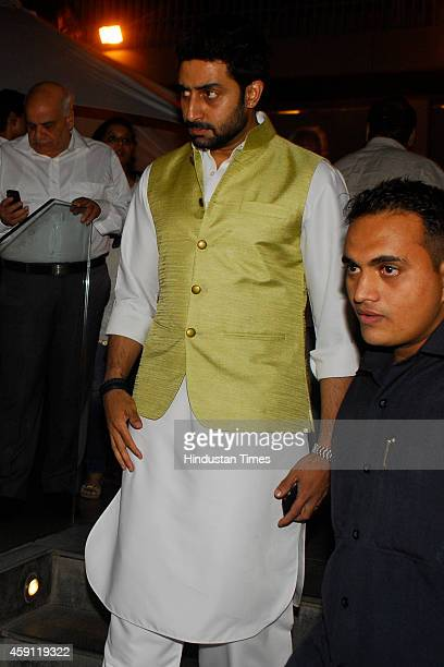 Bollywood actor Abhishek Bachchan during the condolence meeting organised in the memory of late filmmaker Ravi Chopra at Blue sea Hotel Worli on...