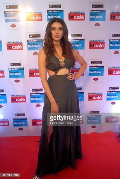 Bollywood actor Aditi Rao Hydari during the Hindustan Times Mumbai's Most Stylish Awards 2015 at JW Mariott Hotel Juhu on March 26 2015 in Mumbai...