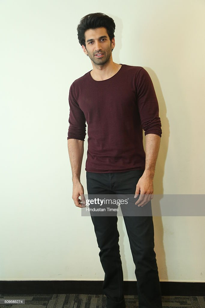 Bollywood actor Aditya Roy Kapoor during an interview for the promotion of his upcoming adult comedy film Fitoor at HT Media Office on February 3, 2016 in New Delhi, India. The film is scheduled to release on February 12, 2016.