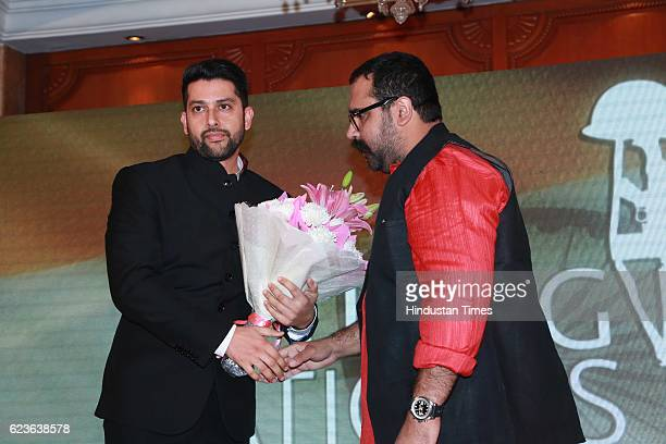 Bollywood actor Aftab Shivdasani with Vineet Dhanda Advocate Supreme Court of India Dhanda Associates salutes Nation's Guardians during an event...