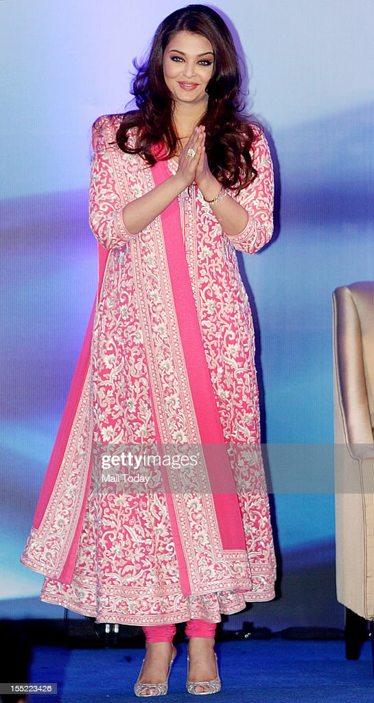 Bollywood actor Aishwarya Rai Bachchan at a function where she was conferred with the French civilian award, Officer Dan Ordre Arts et des Lettres in Mumbai on Thursday.