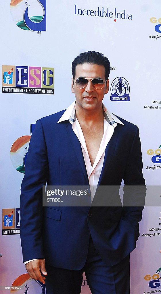 Bollywood actor Akshay Kumar walks the red carpet for the inauguration of the 43rd International Film Festival of India (IFFI) at Campal in Panaji on November 20, 2012.