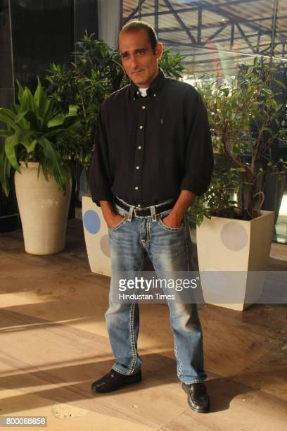 Bollywood actor Akshaye Khanna during the special screening of movie Mom on June 21 2017 in Mumbai India Mom is an upcoming Indian thriller film...
