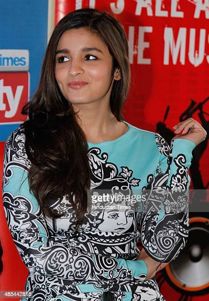 Bollywood actor Alia Bhatt during an exclusive interview with HT City/Hindustan Times for the promotion of upcoming movie at HT Media office on April...