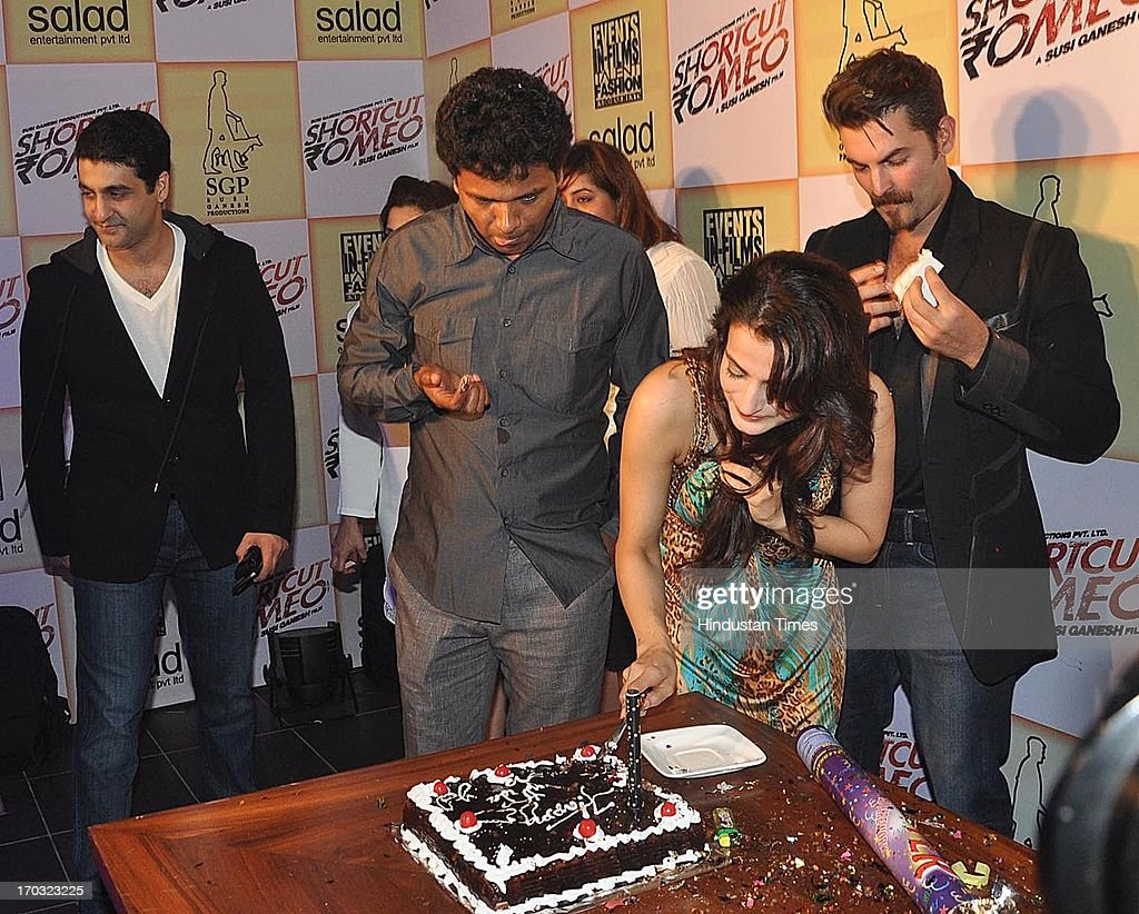 Birthday party of amisha patel getty images for Amisha indian cuisine