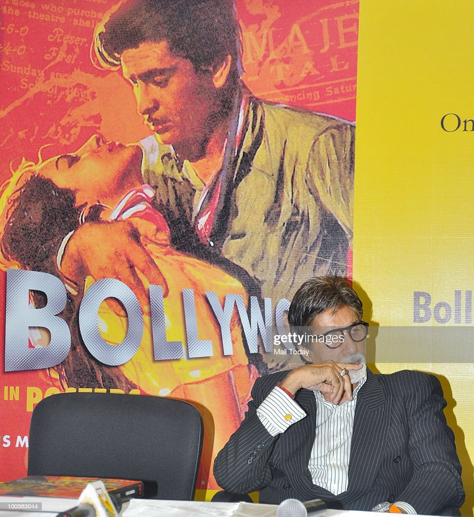 Bollywood actor Amitabh Bachchan attends a book launch event in Mumbai on May 21, 2010.