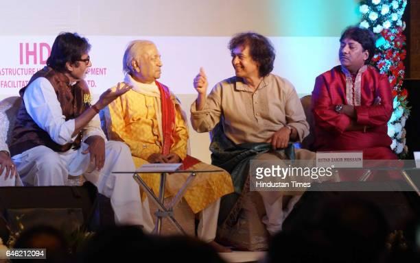 Bollywood actor Amitabh Bachchan Kathak maestro Pandit Birju Maharaj Tabla maestro Ustad Zakir Hussain and Hindustani vocalist Ustad Rashid Khan...