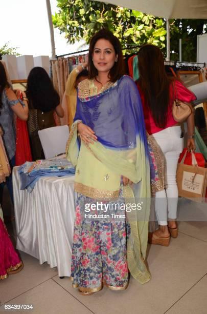 Bollywood actor Amrita Raichand during a Charity exhibition Araaish organised by Mana Shetty wife of actor Suniel Shetty at Blue Sea Worli on...