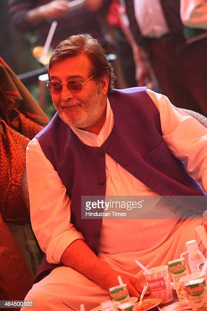 Bollywood actor and BJP MP Vinod Khanna during a Punjabi lunch hosted by Deputy Chief Minister of Punjab Sukhbir Singh Badal on February 23 2015 in...