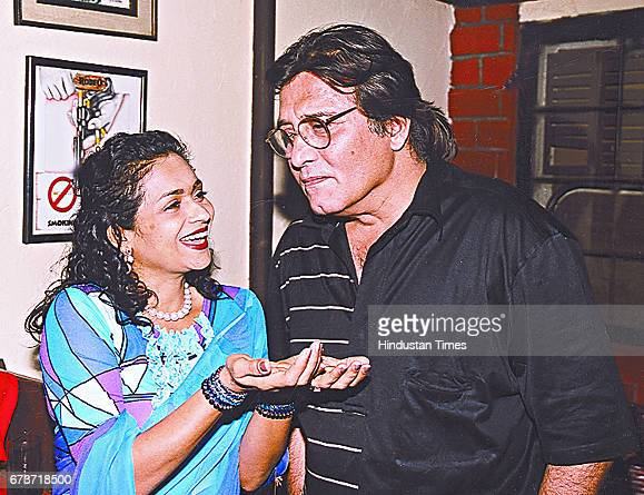 Bollywood actor and Gurdaspur MP Vinod Khanna with his wife Kavita on August 24 in Mumbai India Veteran actor and sitting BJP MP Vinod Khanna passed...