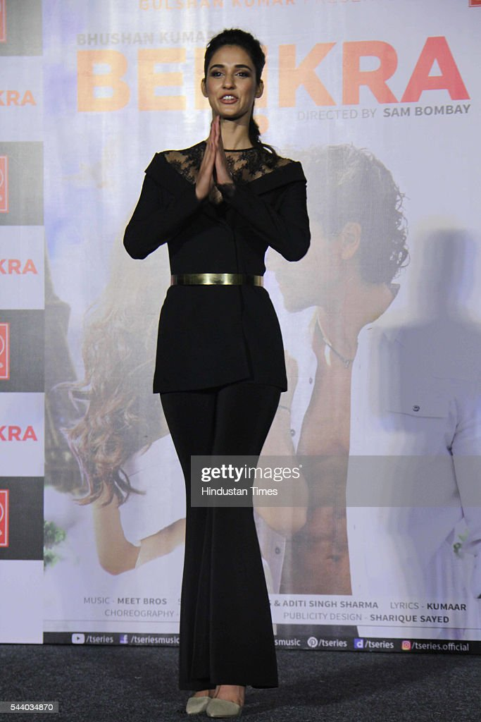 Bollywood actor and model Disha Patani during the launch of single album Befikra, on June 28, 2016 in Mumbai, India.
