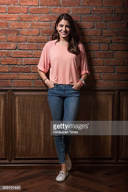 Bollywood actor and producer Anushka Sharma poses during an exclusive interview with ht48hoursHindustan Times for National Siblings Day special shoot...