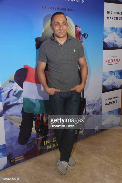 Bollywood actor and producer Rahul Bose during the screening of film 'Poorna Courage Has No Limit' on March 26 2017 in Mumbai India The film is based...