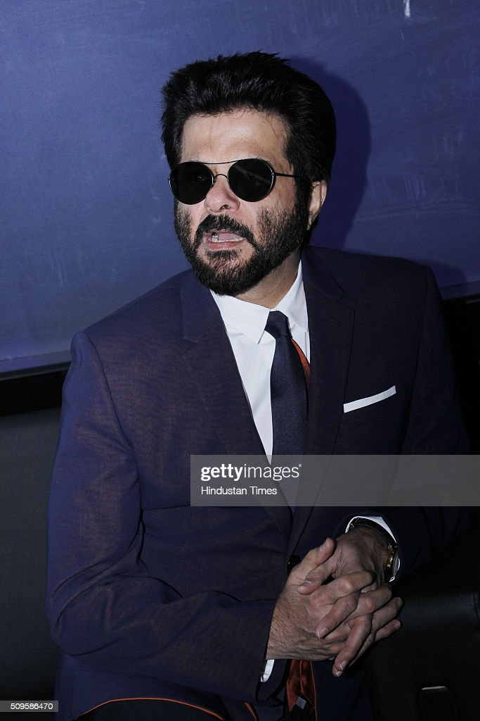 Bollywood actor Anil Kapoor during the launch of Maruti Suzuki S-Cross at the Auto Expo 2016 on February 5, 2016 in Greater Noida, India.