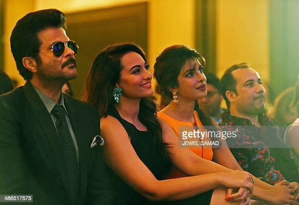 Bollywood actor Anil Kapoor Nominee for Best Performance in a Leading Role Sonakshi Sinha Bollywood actress Priyanka Chopra and singer Rahat Fateh...