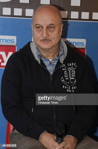 Bollywood actor Anupam Kher during an exclusive interview with HT City Hindustan Times to promote his upcoming movie Baby at HT Media Office on...