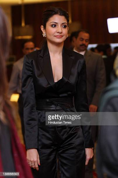 Bollywood actor Anushka Sharma attends the 11th Teacher's Achievement Awards ceremony at ITC Maurya on February 11 2012 in New Delhi India The annual...