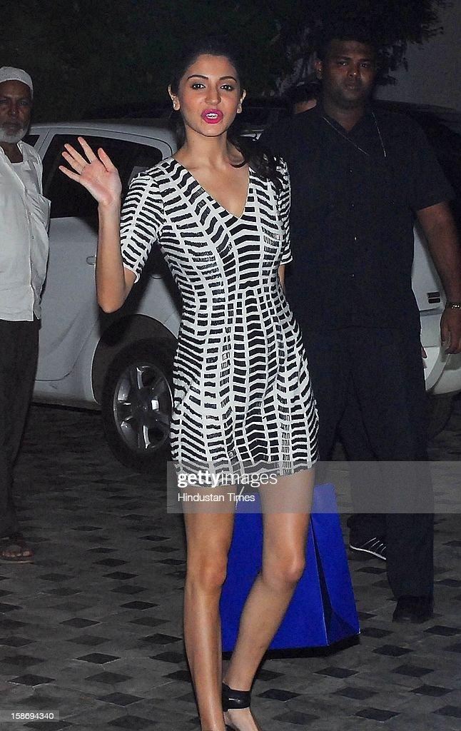 Bollywood actor Anushka Sharma during Imran Khan's house warming party on December 22, 2012 in Mumbai, India.