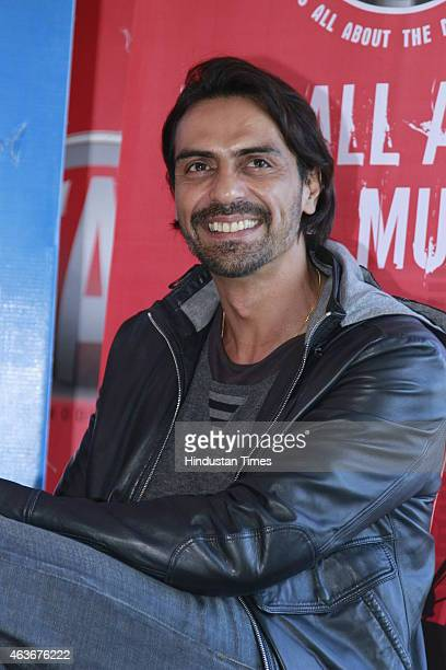 Bollywood actor Arjun Rampal during an interview for the promotion of his upcoming film Roy at HT House on February 10 2015 in New Delhi India