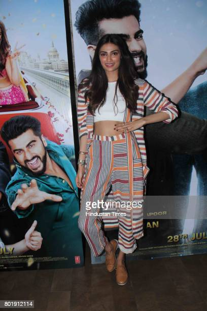 Bollywood actor Athiya Shetty during the birthday party of Arjun Kapoor on June 25 2017 in Mumbai India