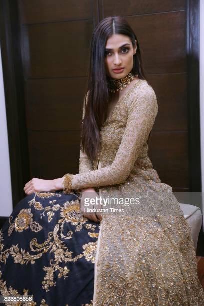 Bollywood actor Athiya Shetty poses for the exclusive profile shoot for HT City during the third day of India Couture Week 2017 organised by Fashion...