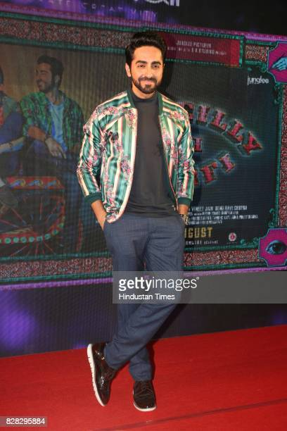 Bollywood actor Ayushmann Khurrana during the music launch of his upcoming film Bareilly Ki Barfi at Lord Of Drinks restaurant Andheri on August 7...