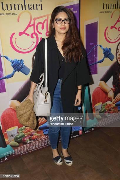 Bollywood actor Bhoomi Pednekar during the special screening of a movie Tumhari Sulu on November 15 2017 in Mumbai India Tumhari Sulu is an Indian...