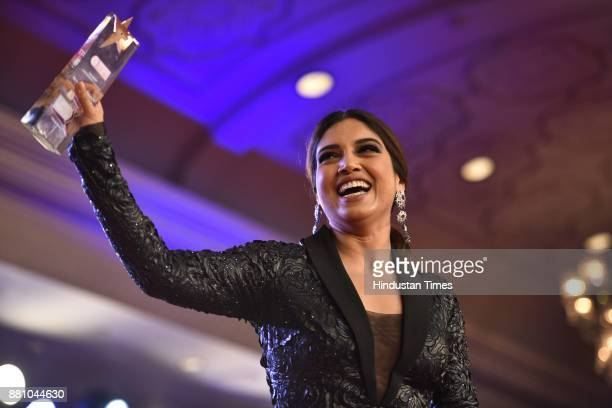 Bollywood actor Bhumi Pednekar during an award function night organised by Bag Films Network at Taj Palace Hotel on November 27 2017 in New Delhi...