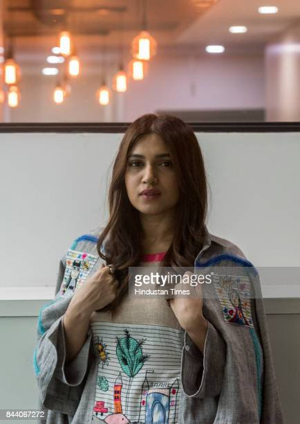 Bollywood actor Bhumi Pednekar poses for picture during the promotion of their upcoming film Shubh Mangal Saavdhan at Eros office on August 29 2017...