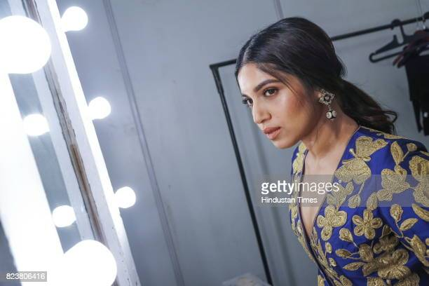 Bollywood actor Bhumi Pednekar poses for the exclusive profile shoot for HT City during the third day of India Couture Week 2017 organised by Fashion...