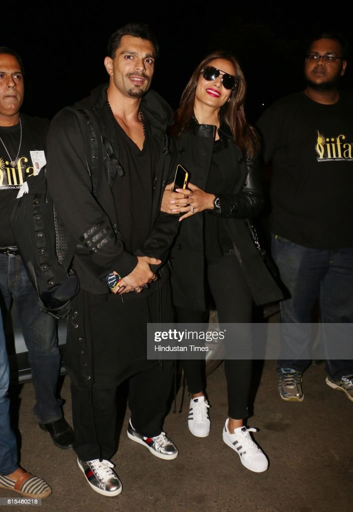 Bollywood actor Bipasha Basu with her husband Karan Singh Grover spotted at airport while leaving for IIFA, on July 12, 2017 in Mumbai, India.