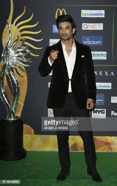 CORRECTION Bollywood Actor Bollywood Actor Sushant Singh Rajput arrives for IIFA Rocks July 14 2017 at the MetLife Stadium in East Rutherford New...
