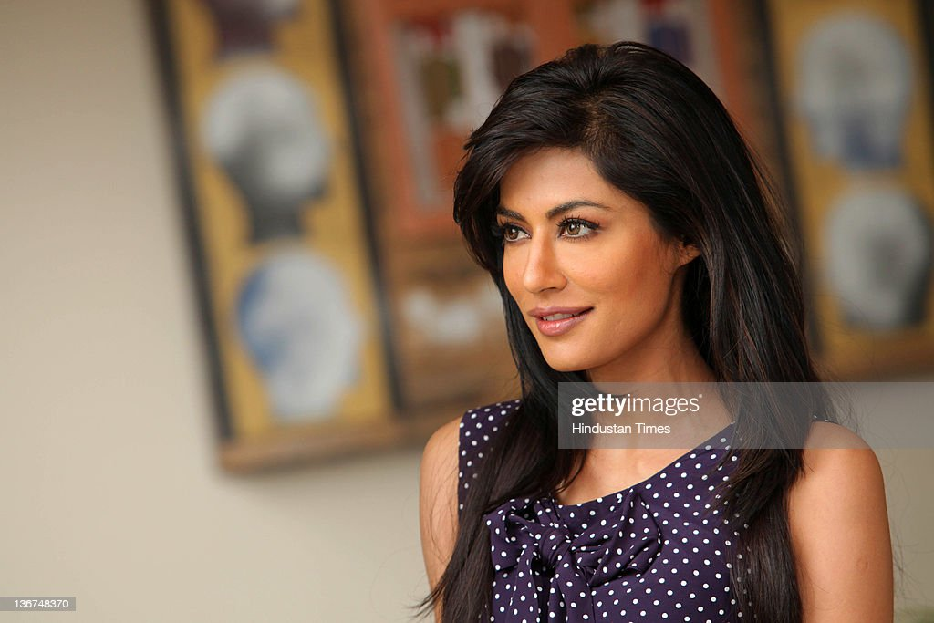 Bollywood actor <a gi-track='captionPersonalityLinkClicked' href=/galleries/search?phrase=Chitrangada+Singh+Randhawa&family=editorial&specificpeople=8680624 ng-click='$event.stopPropagation()'>Chitrangada Singh Randhawa</a> poses during an interview at Lalit Hotel on January 7, 2012 in New Delhi, India.