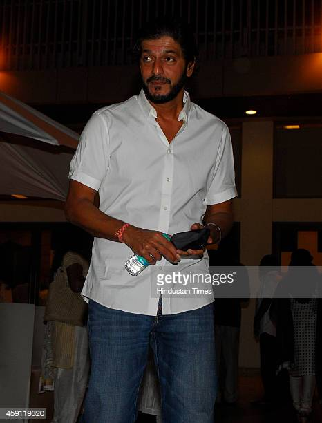Bollywood actor Chunky Pandey during the condolence meeting organised in the memory of late filmmaker Ravi Chopra at Blue sea Hotel Worli on November...