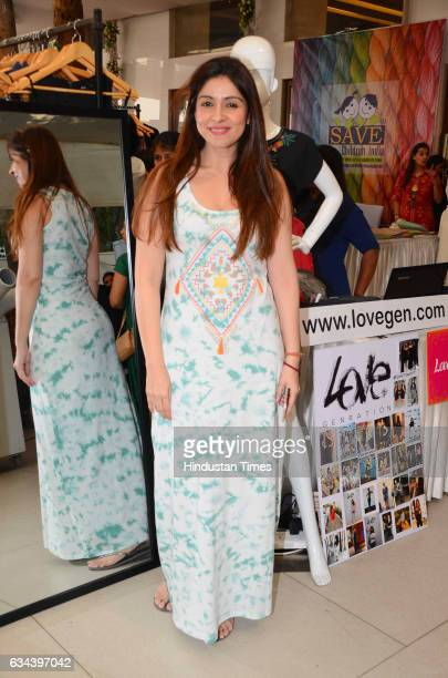 Bollywood actor Chunky Pandey's wife Bhavna Pandey during a Charity exhibition Araaish organised by Mana Shetty wife of actor Suniel Shetty at Blue...