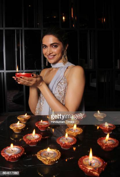 Bollywood actor Deepika Padukone poses during an exclusive interview with HT CafeHindustan Times for the Diwali special shoot at JW Marriott Juhu on...