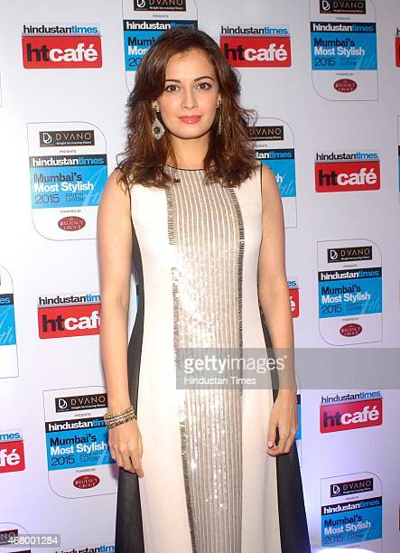 Bollywood actor Dia Mirza during the Hindustan Times Mumbai's Most Stylish Awards 2015 at JW Mariott Hotel Juhu on March 26 2015 in Mumbai India