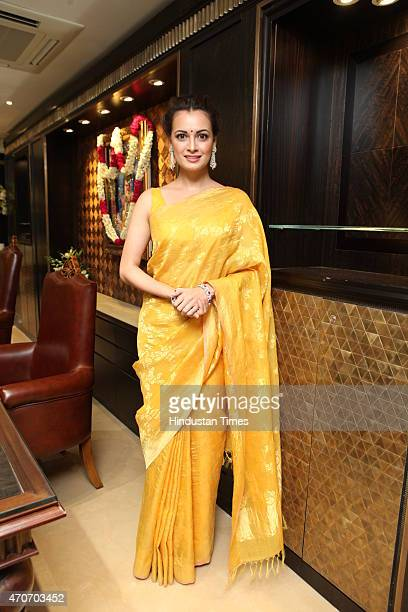 Bollywood actor Dia Mirza during the launch of Sunar Jewelry on April 20 2015 in New Delhi India
