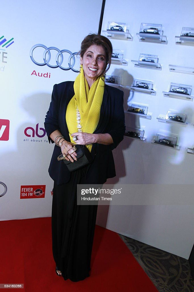 Bollywood actor Dimple Kapadia arriving at red carpet for Hindustan Times Most Stylish Awards 2016 at hotel JW Marriot, Aerocity on May 24, 2016 in New Delhi, India.