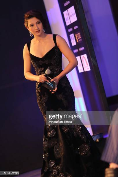Bollywood actor Gauhar Khan during the Hindustan Times Game Changer Awards 2017 at Hotel Oberoi on May 24 2017 in Gurgaon India